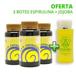 3 Botes de Espirulina + Jojoba