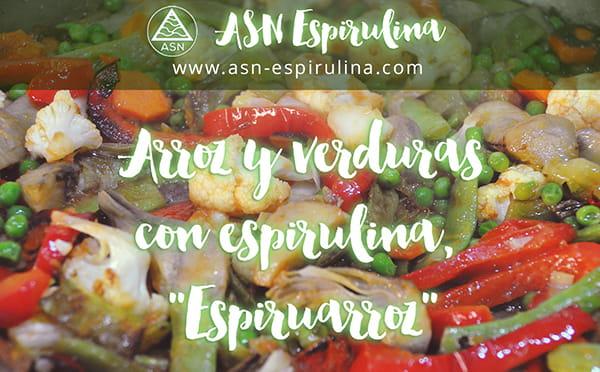 Arroz y verduras con espirulina