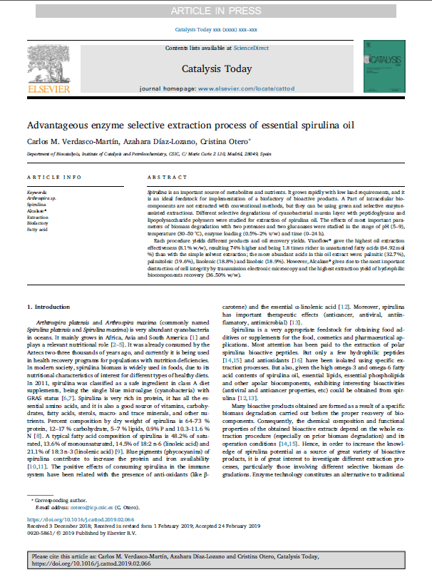 Estudio del CSIC de ASN Espirulina