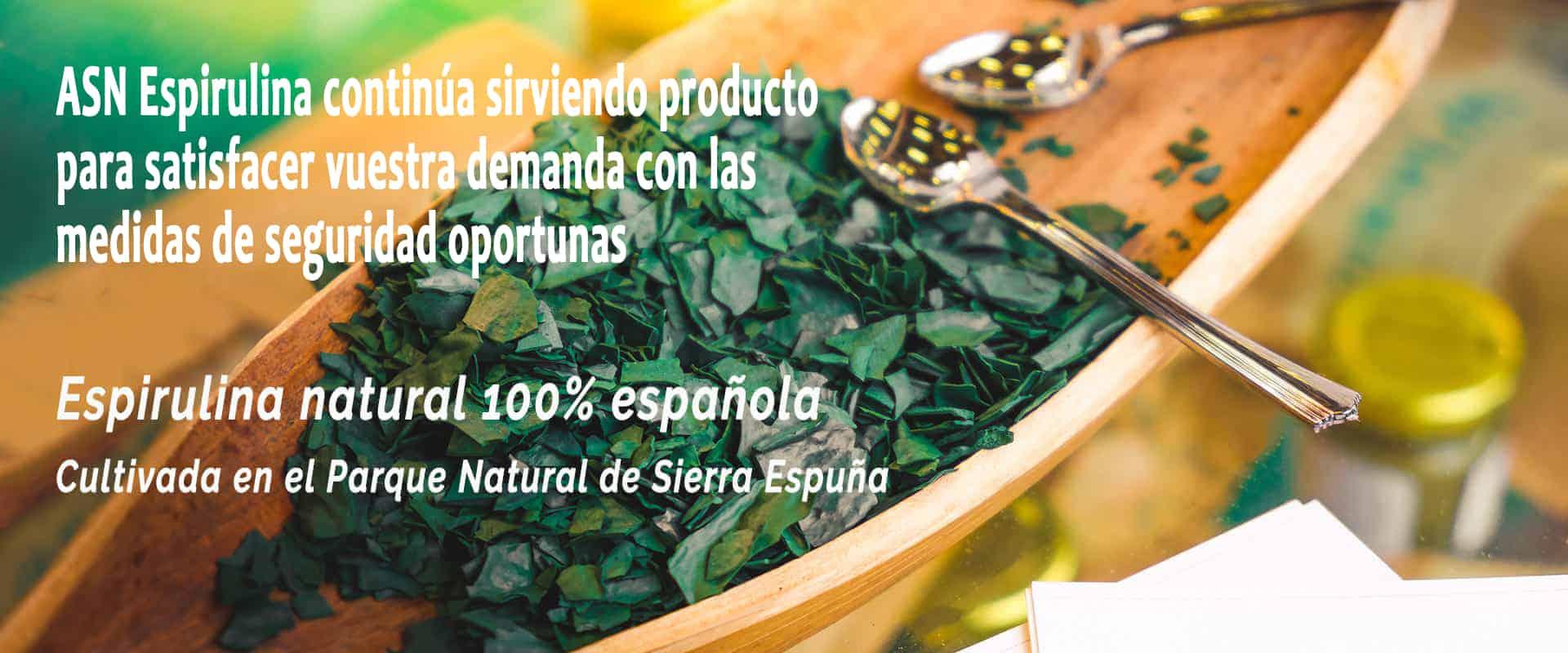 Comprar ASN Espirulina 100% española y natural durante la crisis por el coronavirus