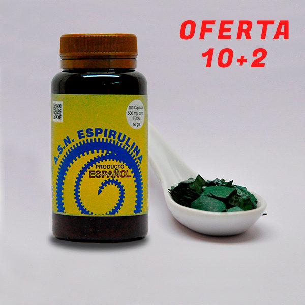 Espirulina en copos de ASN LEADER - Espirulina 100% natural cultivada en España