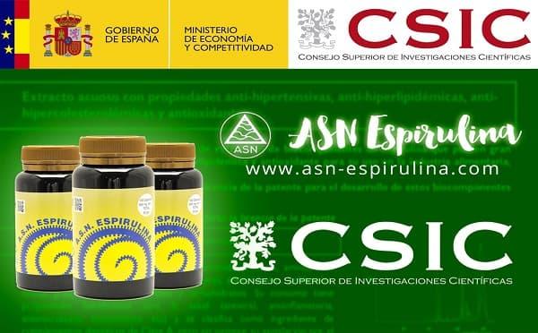Estudio del CSIC sobre nuestra ASN Espirulina natural